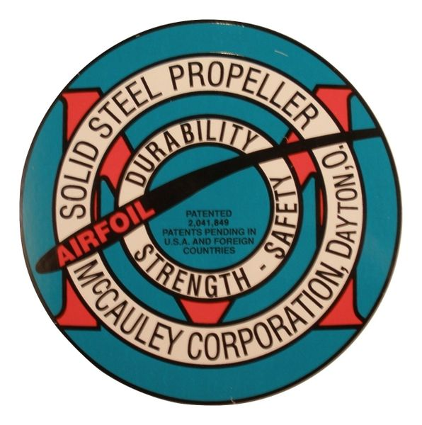 McCauley Steel Propeller Decal DEC-0103