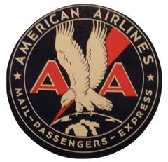 Original Vintage 1935 American Airlines Luggage Decal DEC-0119