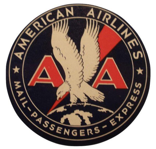 Original Vintage 1935 American Airlines Luggage Decal DEC-0119