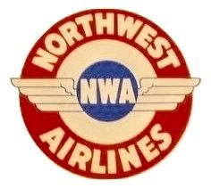 Original Vintage Northwest Airlines Luggage Decal DEC-0132