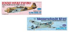 Two Kits- Guillow's Balsa Wood WWII German Fighters GRP-0129