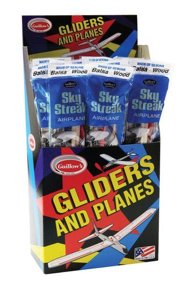 Guillow's Sky Streak Motorplane 24-Piece Display GUI-50-DIS