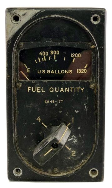 Boeing B-29 Superfortress 4-Way Fuel Quantity Gauge INS-0111