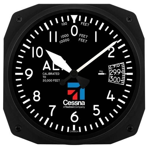 "10"" Cessna Altimeter-Style Wall Clock ORB-0116-A"