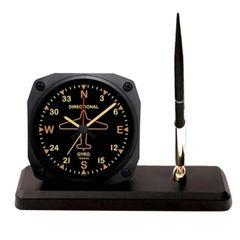 Vintage Directional Gyro Alarm Clock Desk Pen Set OFF-0109