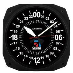 "10"" Cessna 24-Hour Zulu Time Instrument Style Clock ORB-0117A"