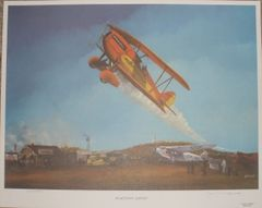 """Home Town Airport"" Lithograph ART-0110"