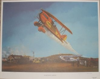 """""""Home Town Airport"""" Lithograph ART-0110"""