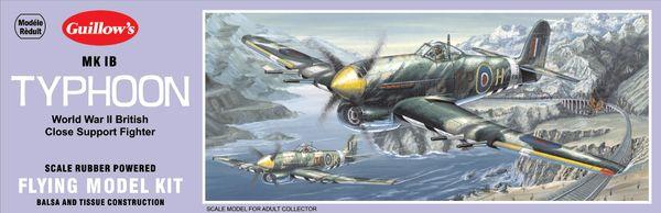 Guillow's Hawker Typhoon Balsa Wood Model Airplane Kit GUI-906