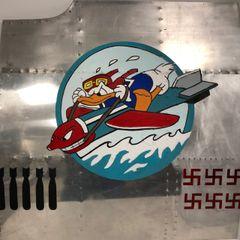 Nose Art Panel- Donald Duck Riding a Bomb NAP-0121