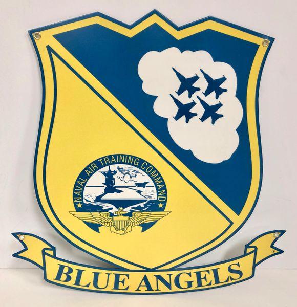 Blue Angels Shield Metal Sign SIG-0104