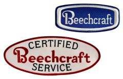 Pair of Embroidered Beechcraft Patches PAT-0201