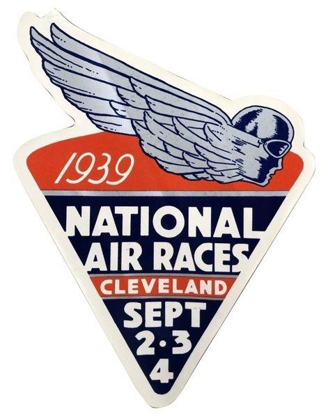 Original Window Decal- 1939 National Air Races DEC-0121
