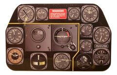 Miniature North American Aviation P-51D Mustang Instrument Panel MIN-P-51D