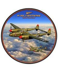 Lockheed P-38 Lightning Metal Sign SIG-0102