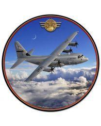Lockheed C-130 Hercules Metal Sign SIG-0103