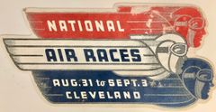 National Races Art Deco Metal Sign OUR-0105