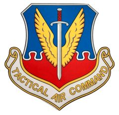 Tactical Air Command Peel and Stick Vinyl Decal DEC-0126