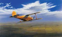 "Ross Buckland Print, Beechcraft Staggerwing ""Wichita Classic"""