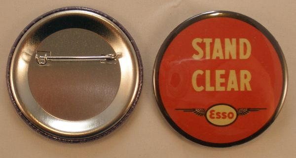 """Wholesale Lot of 52 """"Esso Stand Clear"""" Pin Back Buttons BTN-0115"""