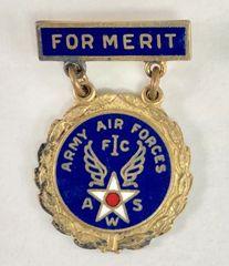 Original WW II USAF Observer Award Pin, Sterling ONE-0109