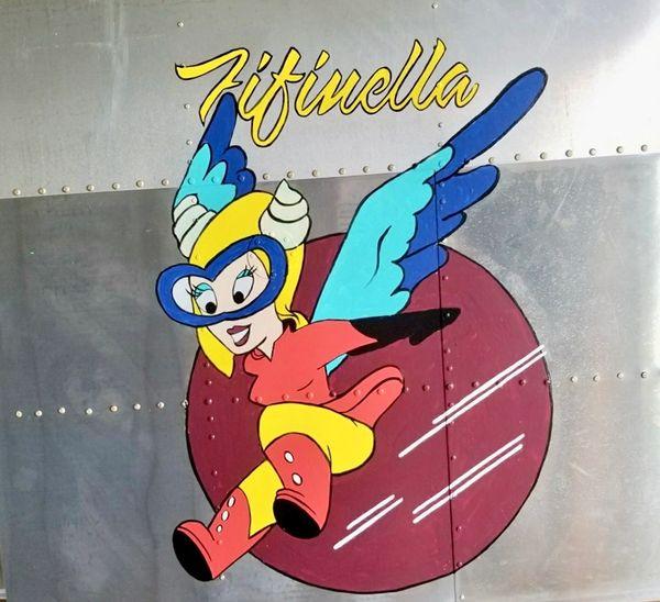 NOSE ART PANEL- Fifinella, Women Airforce Service Pilots NAP-0130