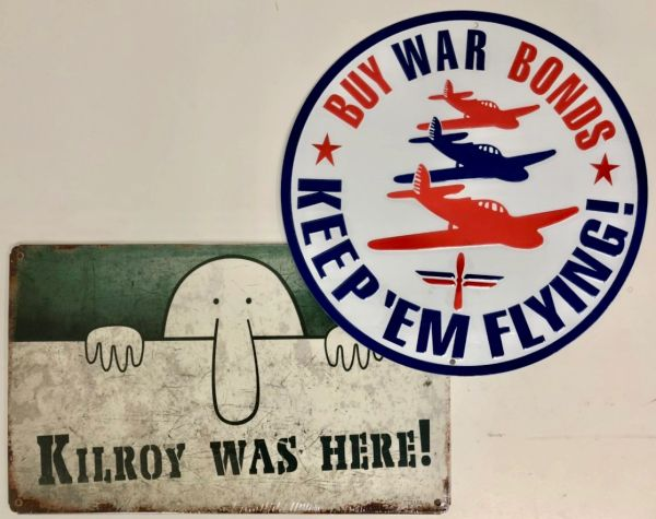 Two Home Front WWII Metal Signs GRP-0139