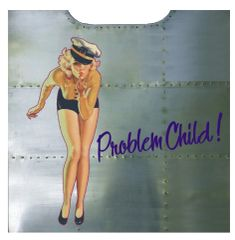"Nose Art Panel- ""Problem Child"" NAP-0131"
