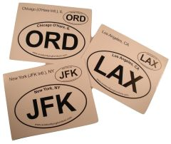 Lot of 7 Airport Code Decals, Aviation GRP-0102APS