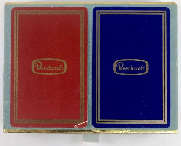 Vintage Beechcraft Playing Cards, 2 Decks, in Slide-Out Case PC-0101