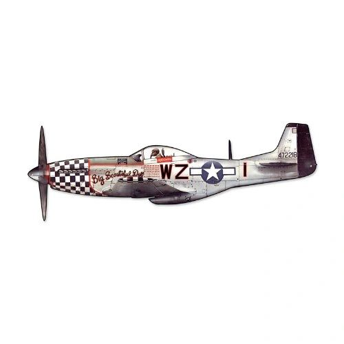 North American Aviation P-51 Mustang Cutout Metal Sign SIG-0120