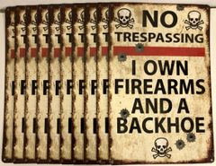 Wholesale Lot of 10 Humorous 2nd Amendment Metal Signs SIG-0185-10