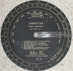 Computer- Airspeed. Type G-1 COM-0103