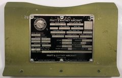 Original WWII Era Pratt & Whitney R-1830 86 Data Plate, Mounted DPL-0123