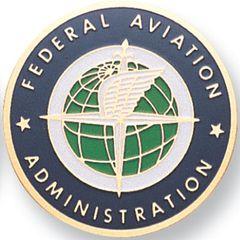 "Disk- Medallion Insert, FAA ,Etched Enamel, 2"" EMB-0103"