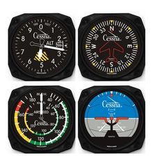 4-Piece Cessna Aircraft Instrument Inspired Coaster Set by Trintec ORB-0117