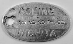 Boeing Wichita, KS, WWII Vintage Tool Check, B-29 Superfortress KEY-0101