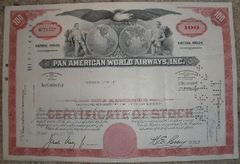 Pan American World Airways Cancelled Stock Certificate EPH-0101