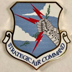 Strategic Air Command, SAC, Prong-Back Lapel Pin AWD-0102