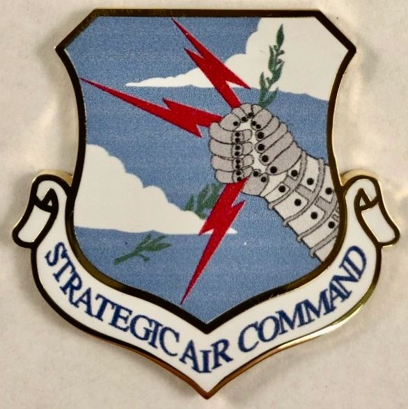 Strategic Air Command, SAC, Prong-Back Lapel Pin AWD-0102