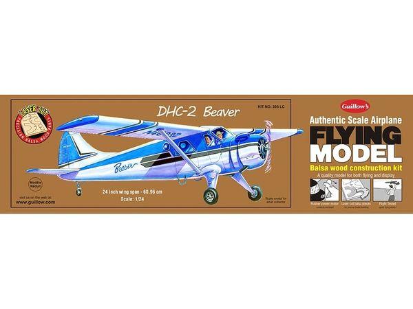 Guillow's de Havilland DHC-2 Beaver Balsa Wood Model Airplane Kit GUI-305