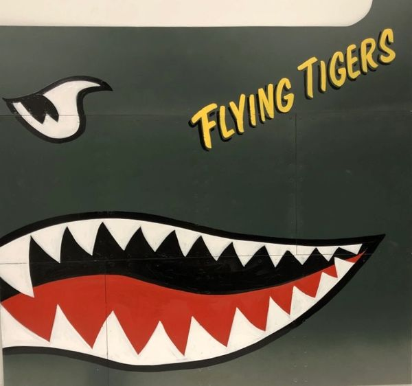 Riveted Aircraft Aluminum Nose Art Panel- Flying Tigers NAP-0134