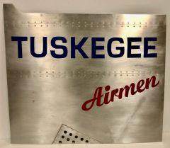 Riveted Aircraft Aluminum Nose Art Panel- Tuskegee Airmen WWII Aviation NAP-0135