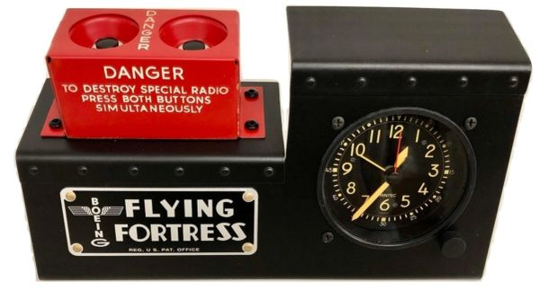 B-17 Radio Destruct/Cockpit Clock Desk Set by Aviation Flying Furniture OFF-0106