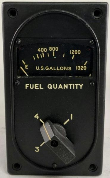 New Old Stock B-29 Superfortress 4-way Fuel Gauge INS-0117