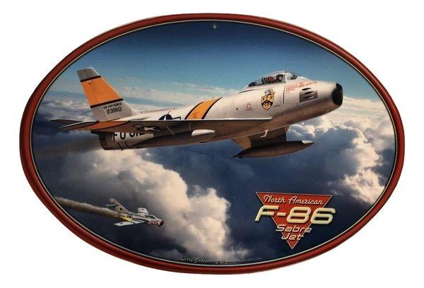North American Aviation F-86 Sabre Jet Metal Sign SIG-0156