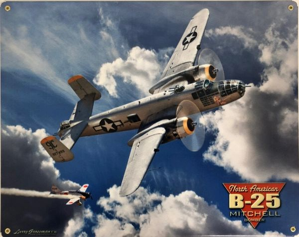 North American Aviation B-25 Mitchell Metal Sign SIG-0157
