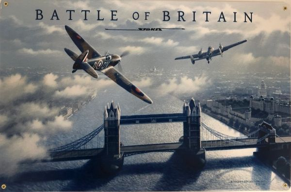 """Battle of Britain"" Metal Sign SIG-0158"