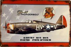Republic P-47 Thunderbolt Metal Sign SIG-0170