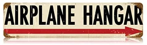 """Airplane Hangar"" Metal Sign SIG-0111"